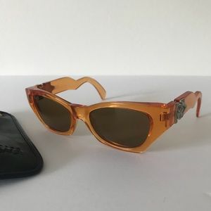 Vintage Gianni Versace Orange Sunglasses